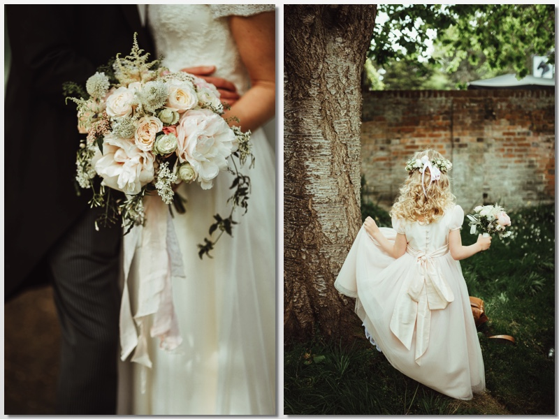 Blush coloured spring wedding in Buckinghamshire