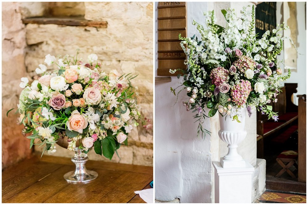 Spring wedding in antique colours at The Great Barn, Aynho, Oxfordshire