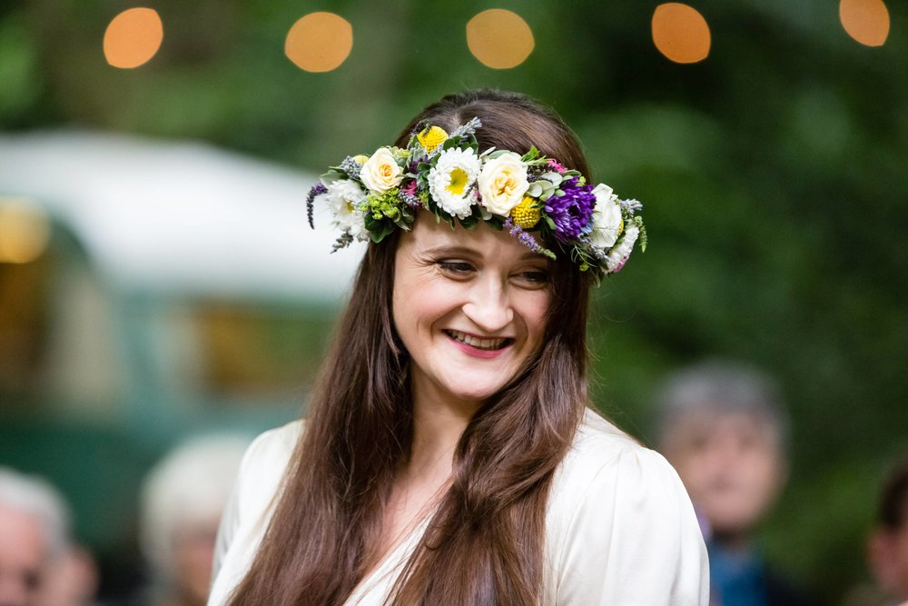 Summer bridal floral crown