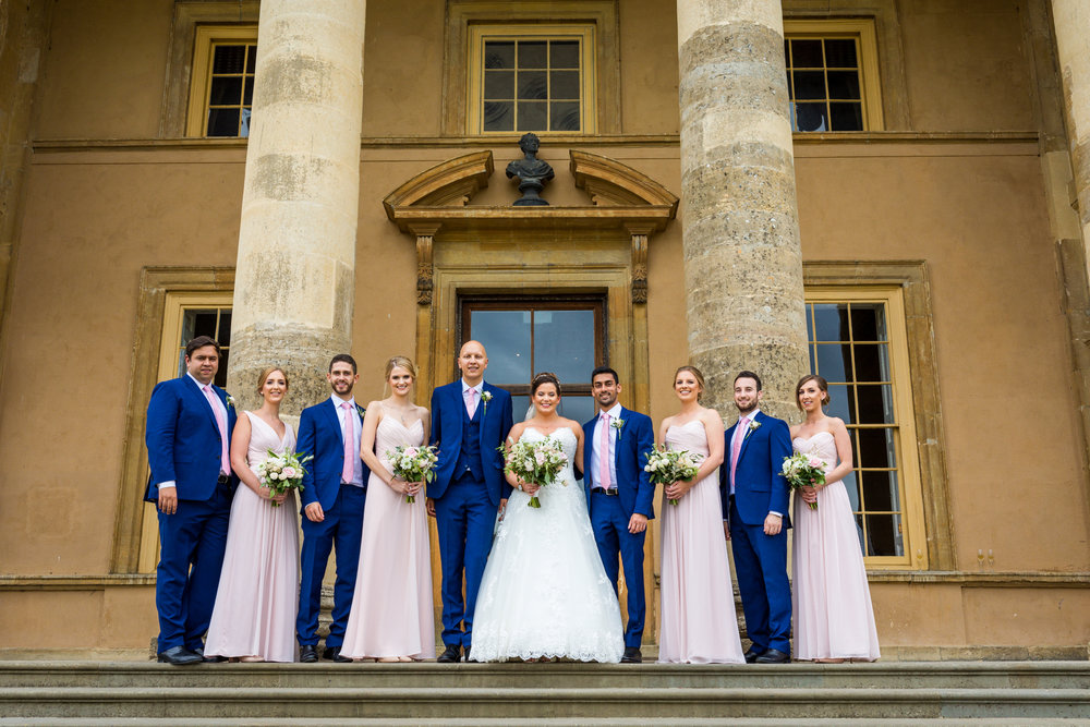 Summer wedding at Stowe House, Buckinghamshire