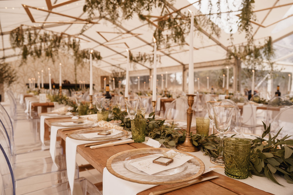 All foliage marquee wedding, northamptonshire