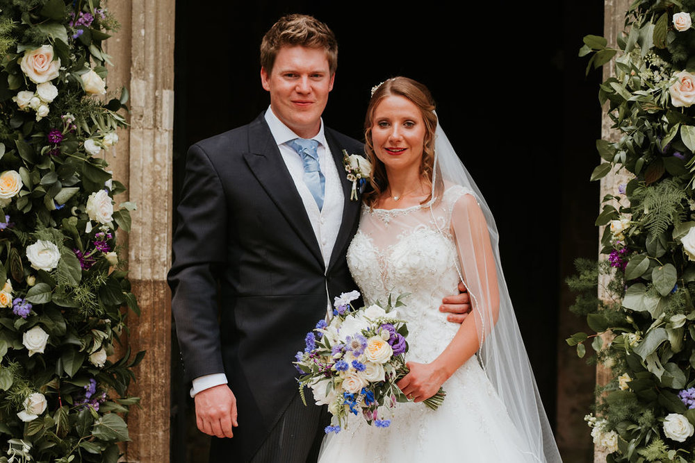 Summer church wedding, Buckinghamshire