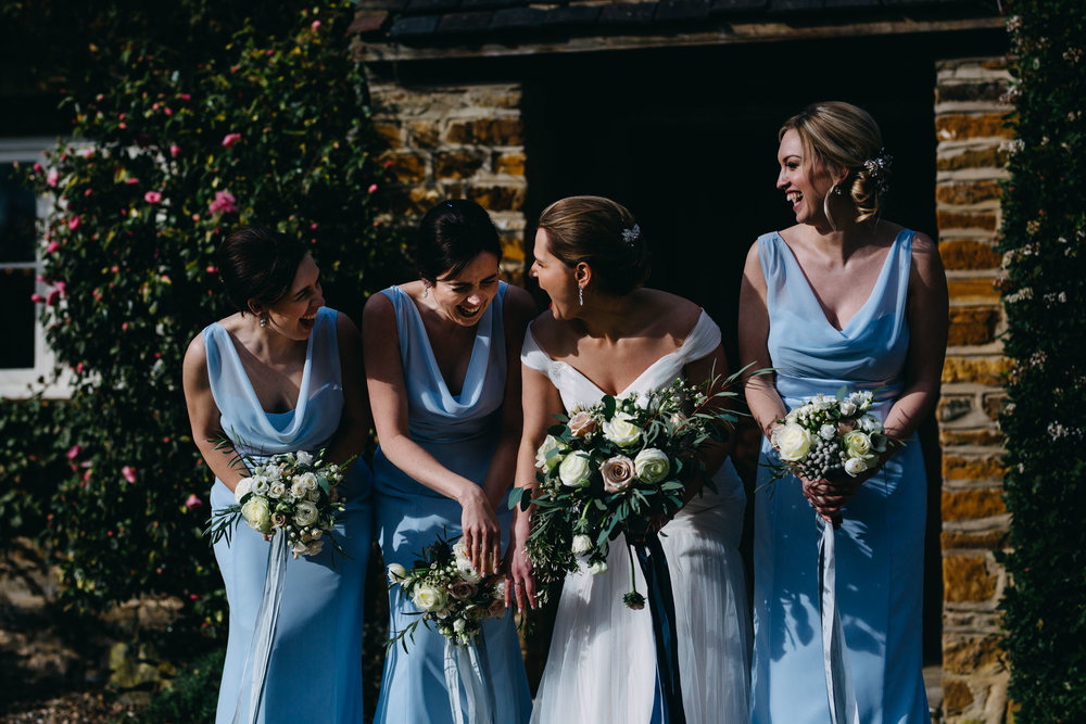 Spring wedding at Dodmoor House, Northamptonshire