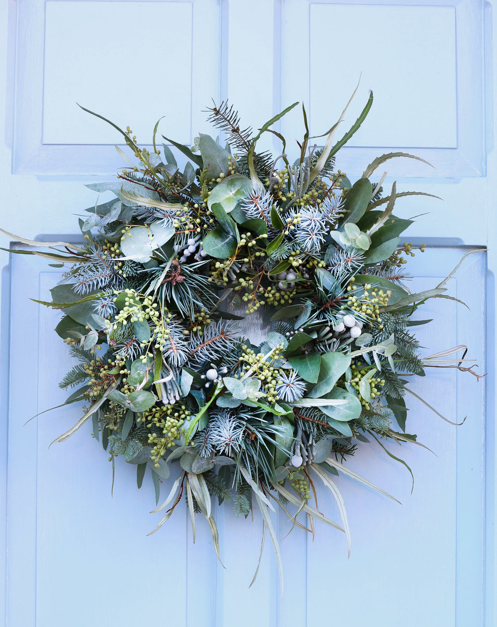 All foliage, textured Christmas Wreath