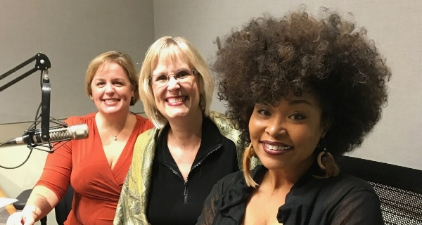 L to R, Katherine Lambert, CEO Western NC Alzheimer's Association, Barbara Ivey, Author and Alzheimer's Kid, Francene Marie, Radio Personality