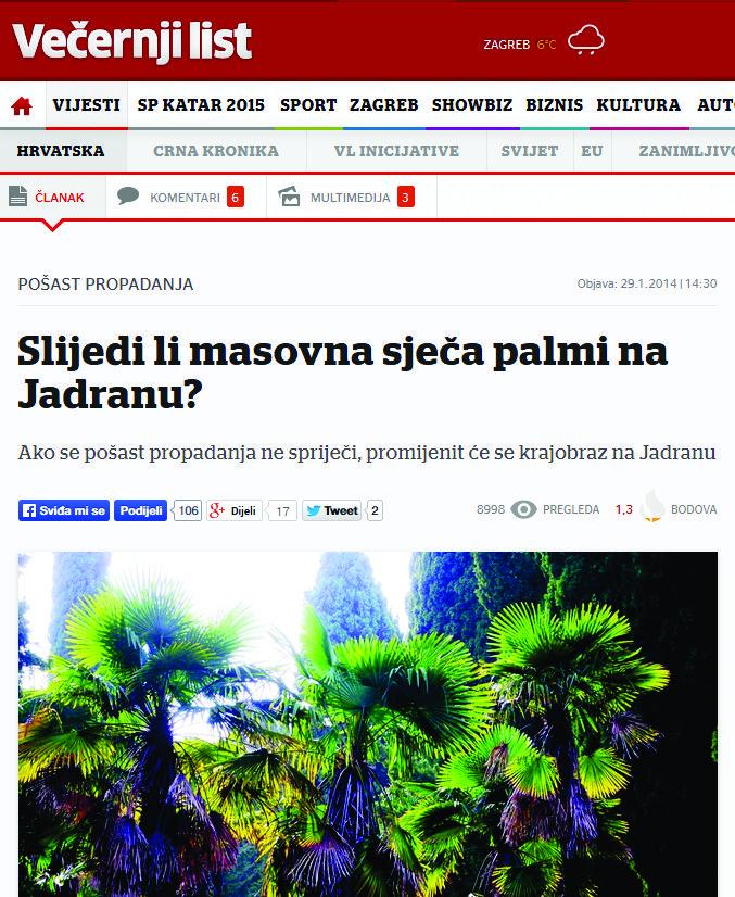 Večernji list 29.01.2014. godine Vidi članak.