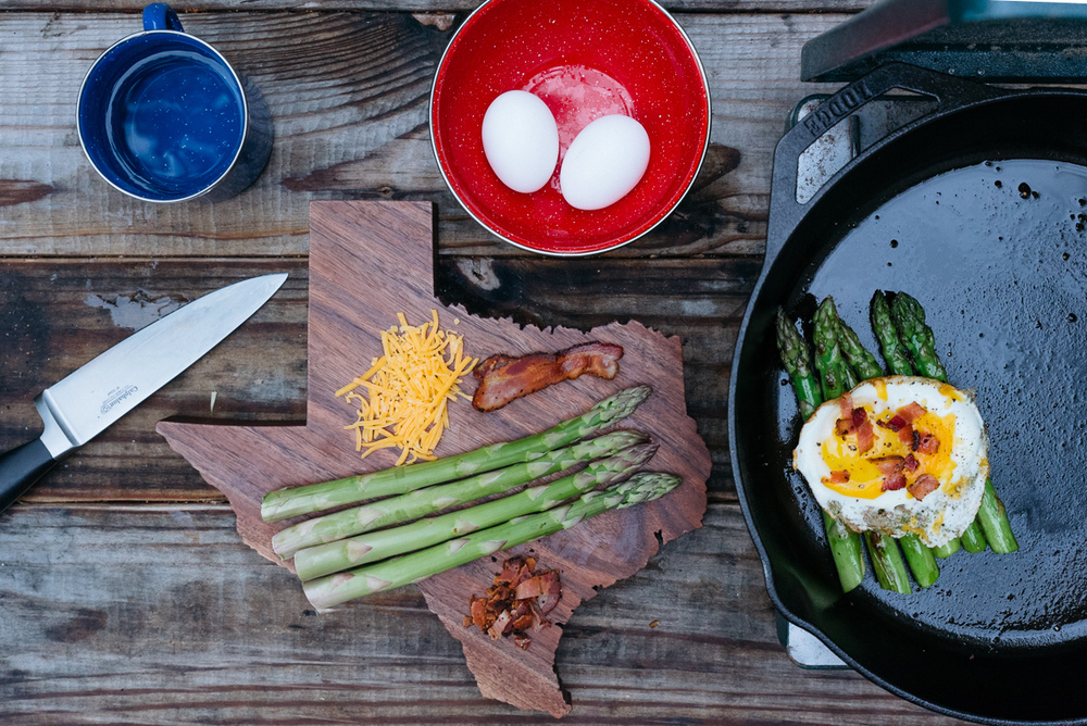 america yall cooking americayall pawlowski camp camping asparagus eggs cast iron texas vsco nikon above