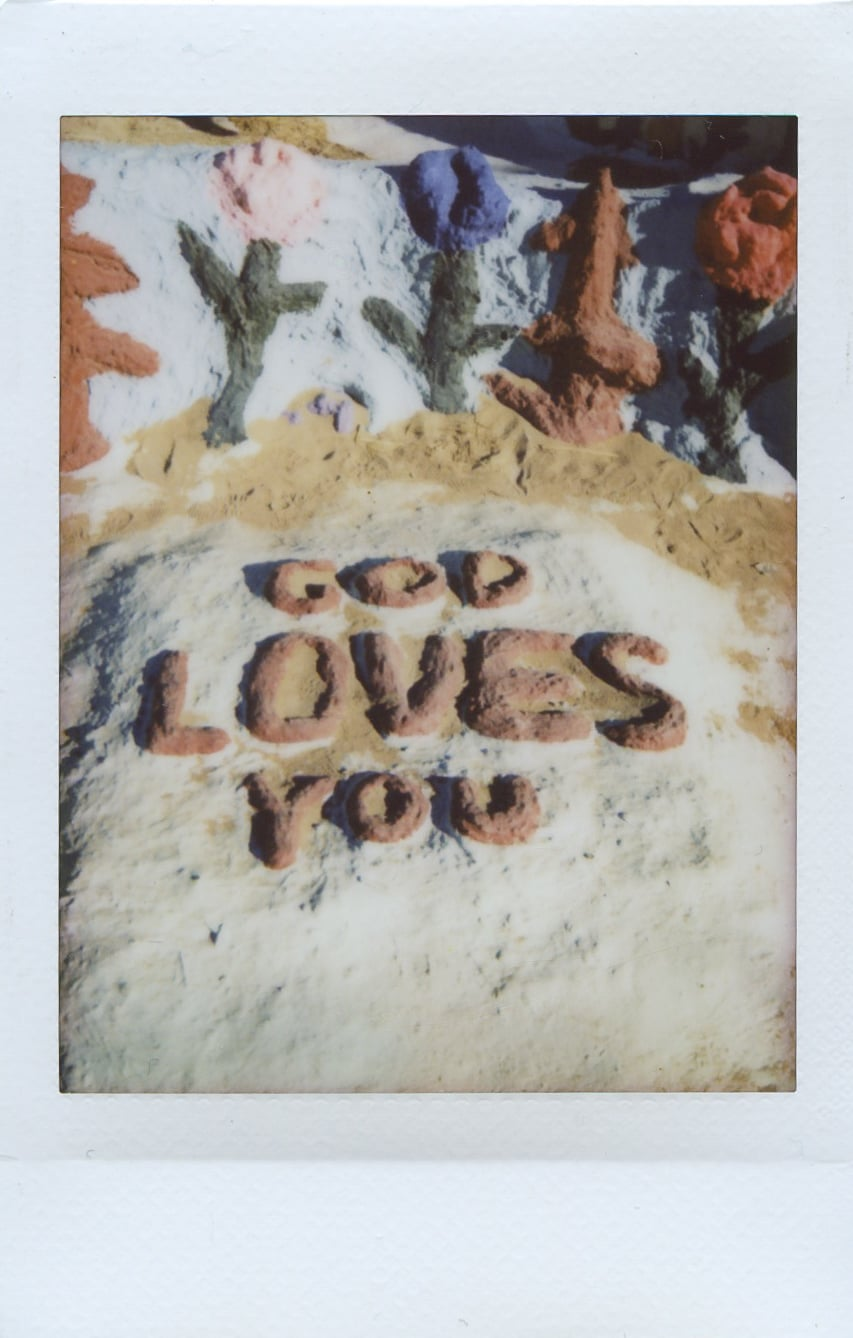 fuji instax salvation mountain california joshua tree god