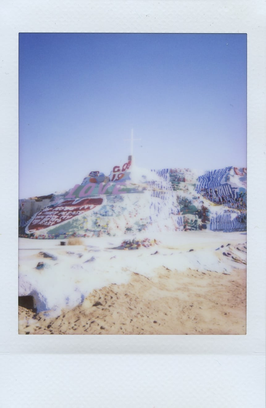 fuji instax salvation mountain california joshua tree landscape