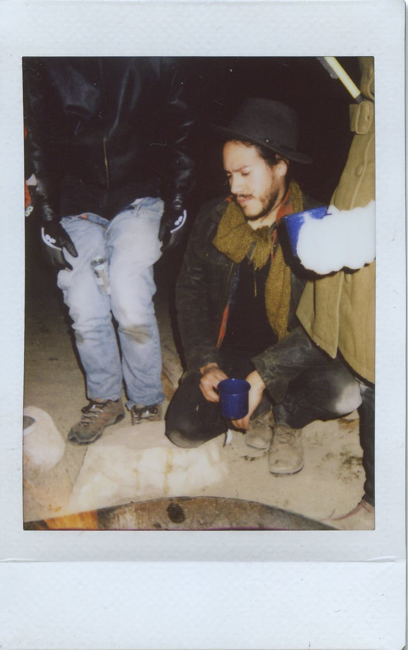 fuji instax salvation mountain california joshua tree friends