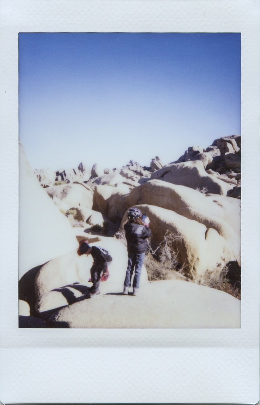 fuji instax salvation mountain california joshua tree rocks
