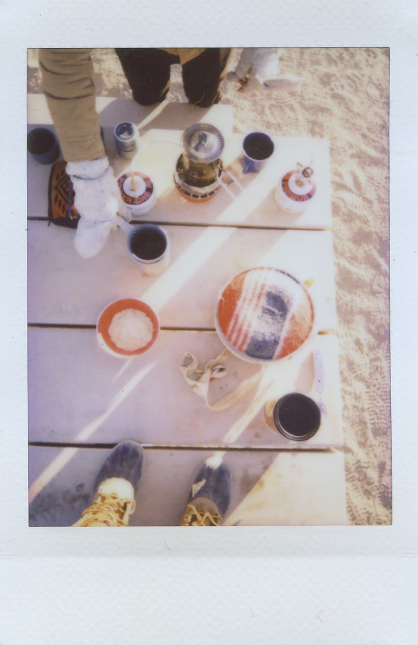 fuji instax salvation mountain california joshua tree camp coffee