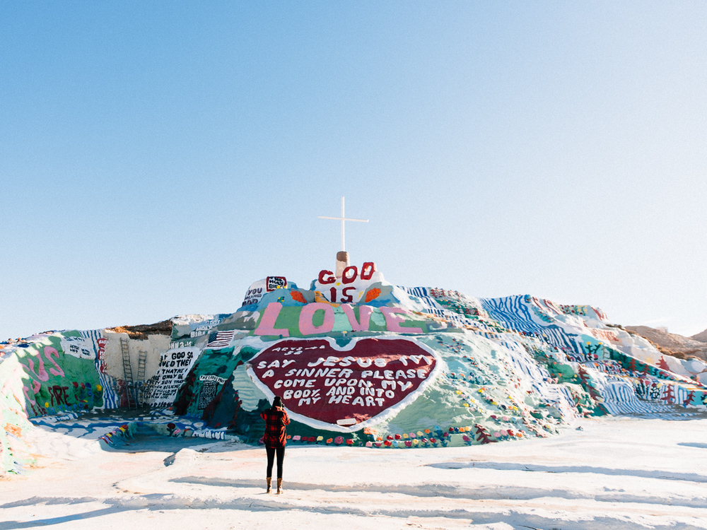 New Years road trip - salvation mountain