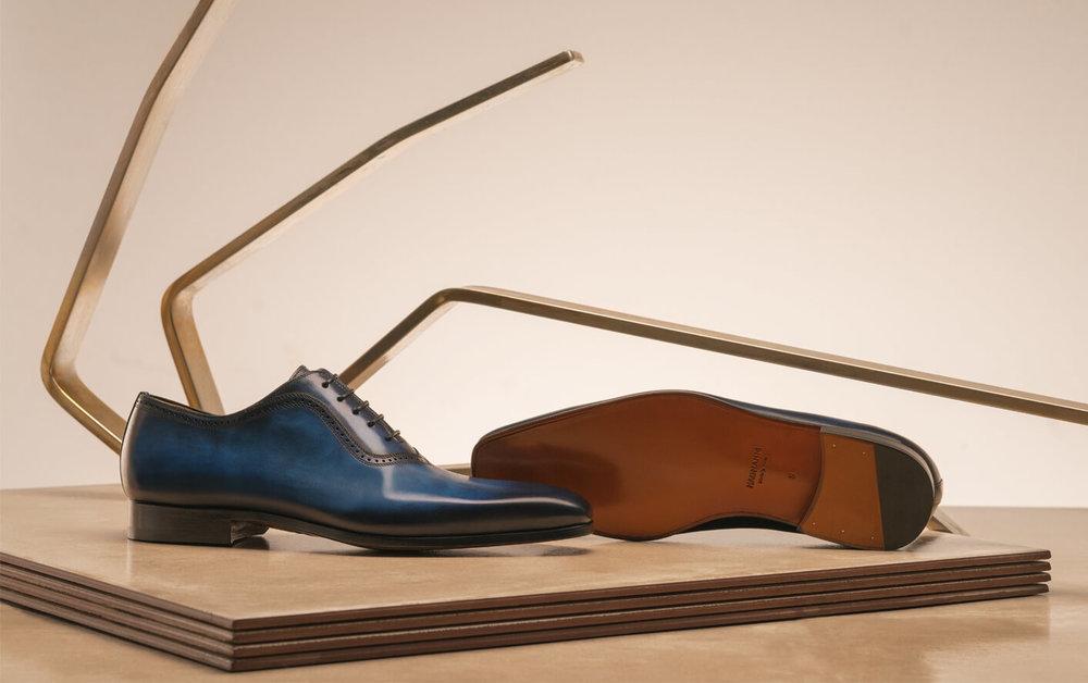 Magnanni Wholecut Leather Shoes