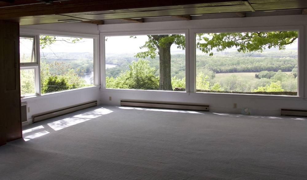our yoga classroom - down the hall from your room -with beautiful views of the James River.