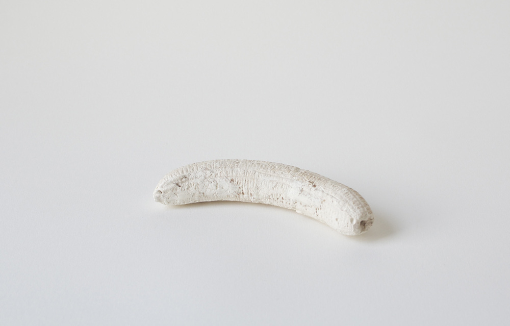 Single (banana),  2013  Plaster  7 x 2 x 1 inches