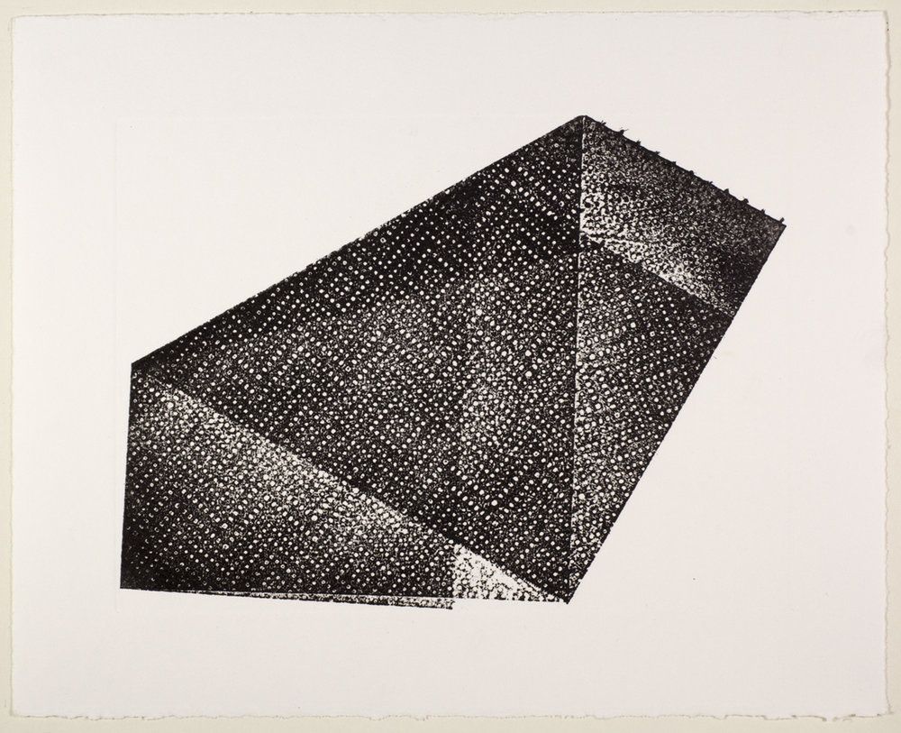 100 Sheets (Paper towel print) , 2016  Monotype  8 x 10 inches