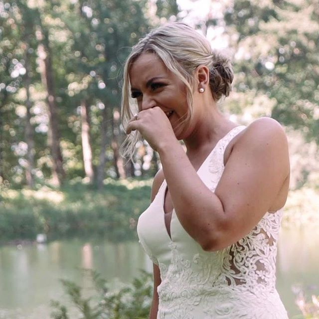 This is the bride's reaction as her husband sees her for the first time at their first look. ⠀ ⠀ Video: @watertownfilms⠀ Photo: @oliviastrohmphoto ⠀ Planning: @blacksweetraspberry ⠀ Venue: #bridalveillakes⠀ .⠀ .⠀ .⠀ .⠀ #weddingvideographer #portlandvideographer #oregonvideographer #destinationvideographer #weddingvideo #thatsdarling #engaged #chasinglight #weddingseason #loveintentionally #intimatewedding #destinationwedding #couplesgoals #weddinginspo #loveauthentic #stylemepretty #justengaged #ohwowyes