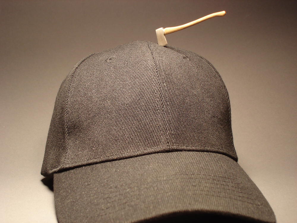 Lumber Axe on Hat