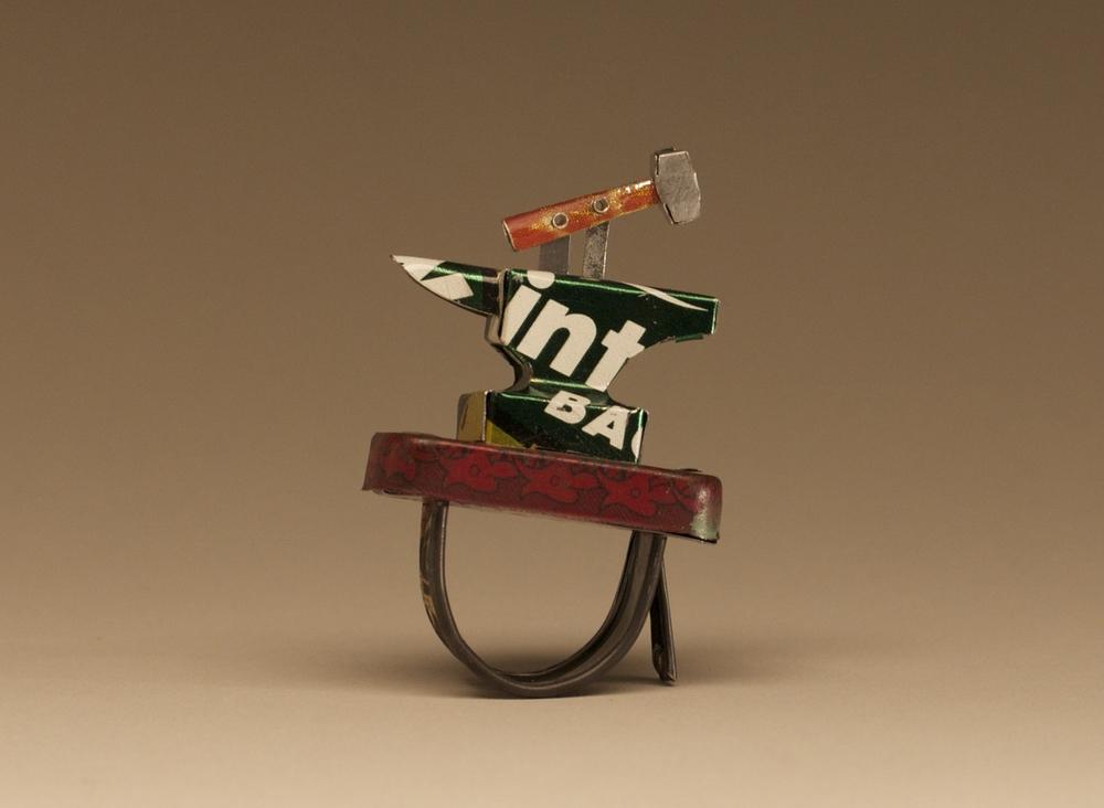 Tin Anvil Ring