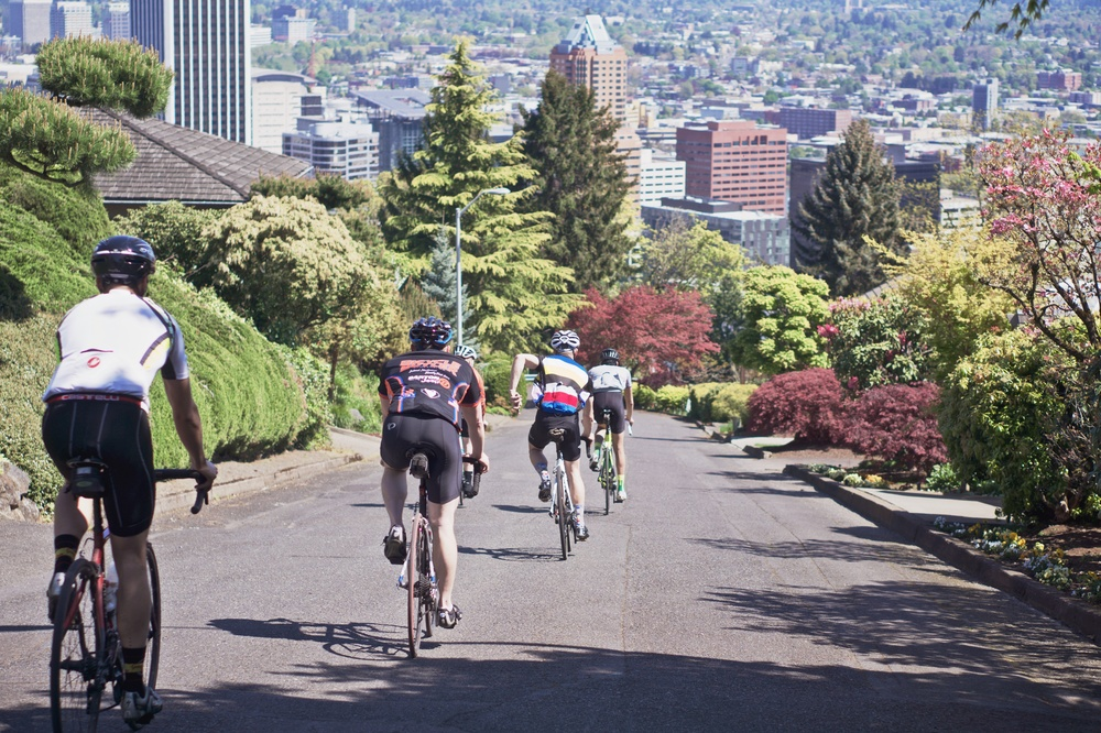 Unofficially the hilliest group ride in Portland, OR.