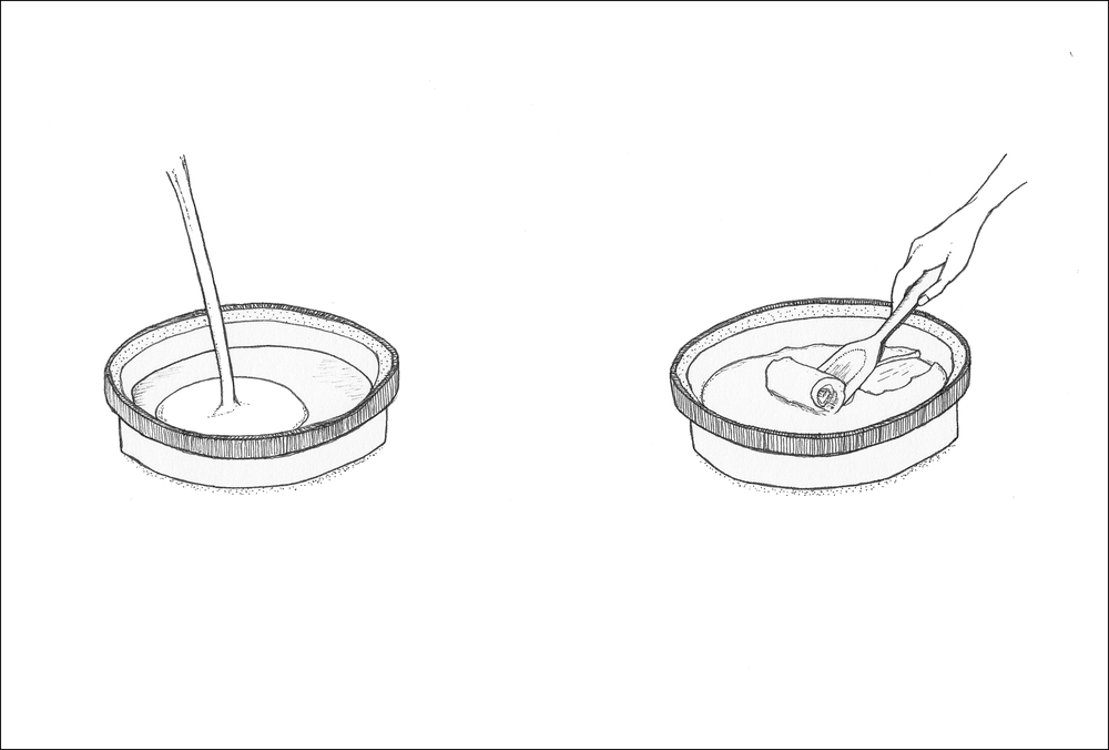 Spot illustrations for homemade ice cream