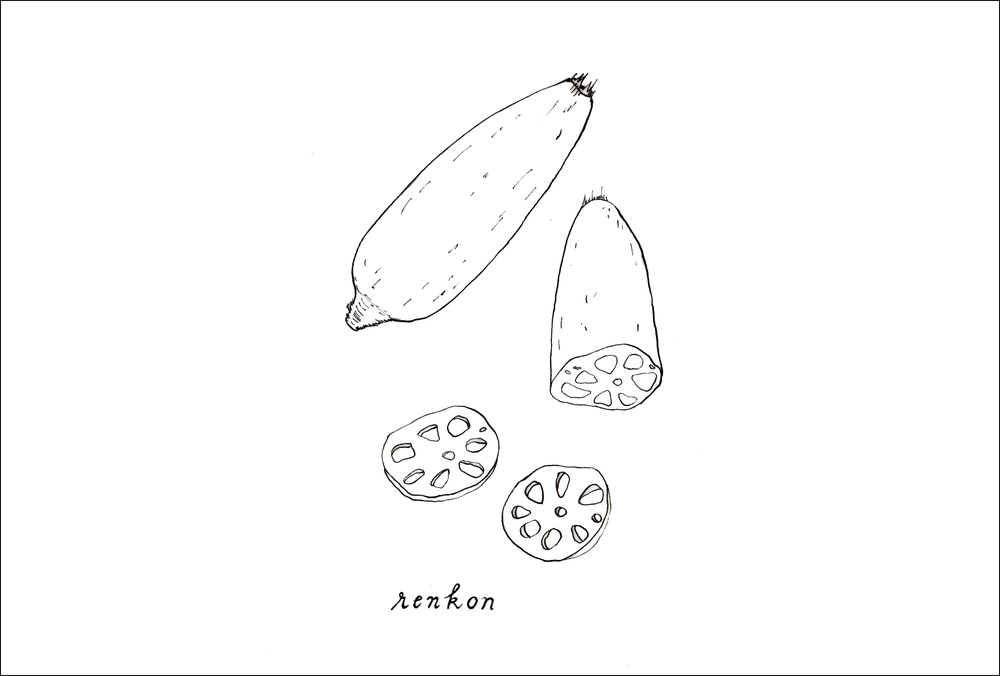 December -  Renkon  (lotus root)