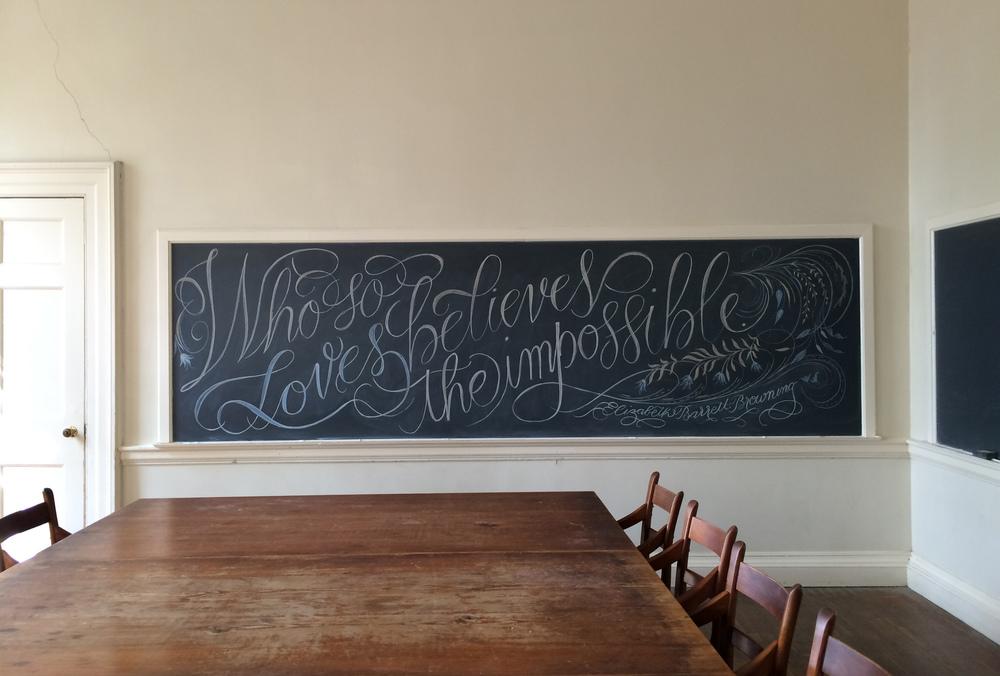 Chalkboard calligraphy