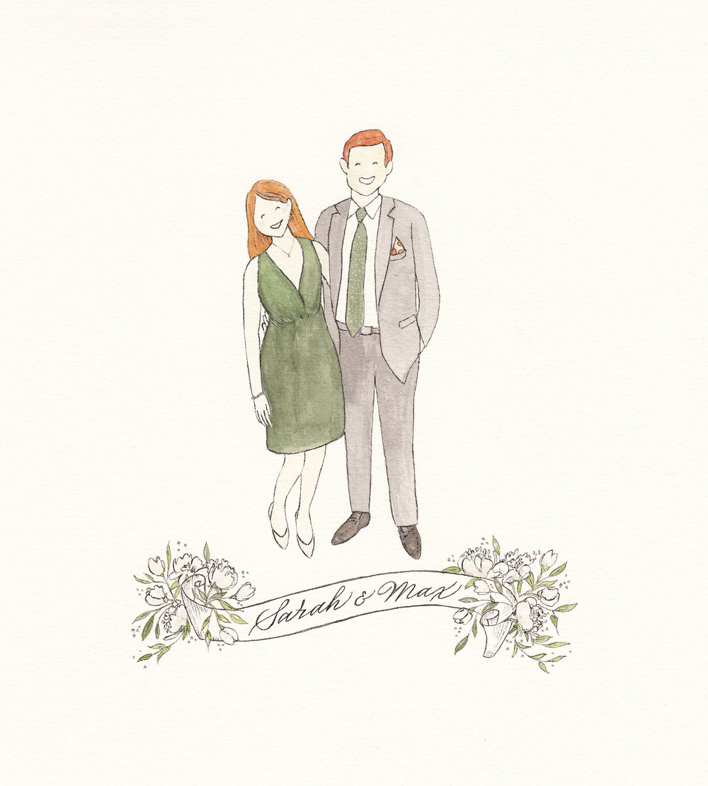 Wedding Illustration for Sarah and Max