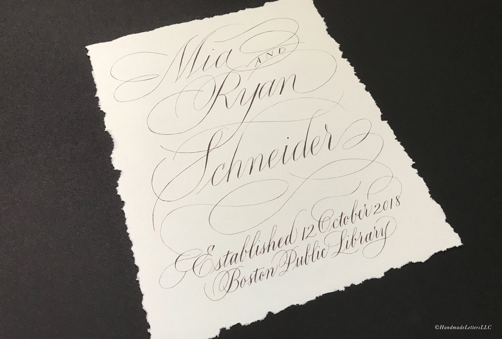 Handmade Letters - Greeting Sign for Wedding Reception