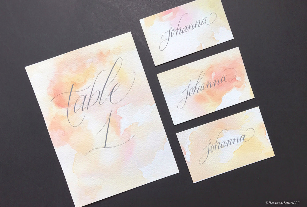 Handmade Letters - Citrus-Themed Watercolor Washes