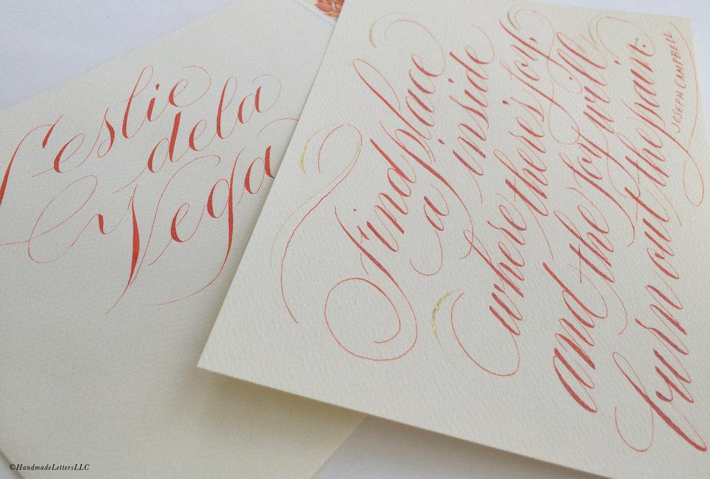 Handmade Letters - Letter for Leslie