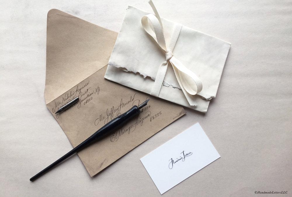 Handmade Letters - Letter for Jeffrey