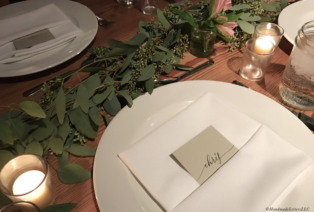 Handmade Letters - Wedding Place Cards