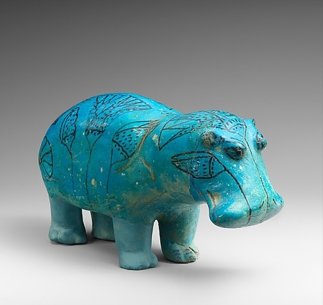 Egyptian middle Kingdom faiance hippo                                          The MET Museum