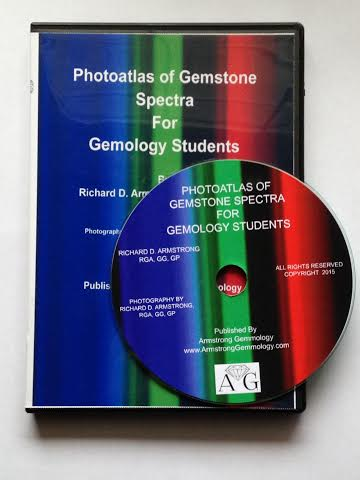 Photoatlas of Gemstone Spectra for Gemology Students