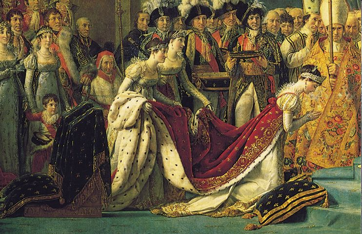 Detail, Jacques-Louis David's  The Coronation of Napoleon  (1807) { Source }