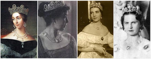 Left to Right: Queen Josephina, Crown Princess Margareta, Princess Ingrid (later Queen of Denmark), Princess Sibylla