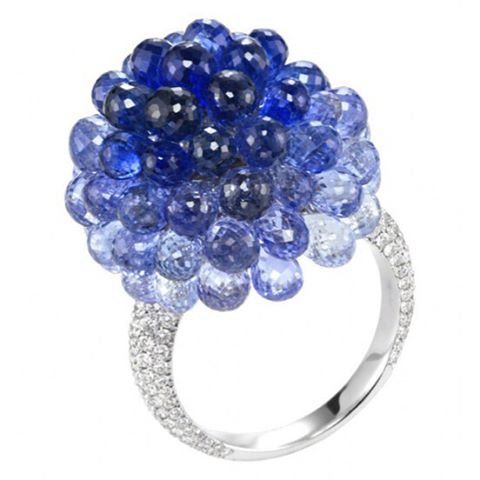 "Sapphire and diamond ""Copacabana"" ring by Chopard"