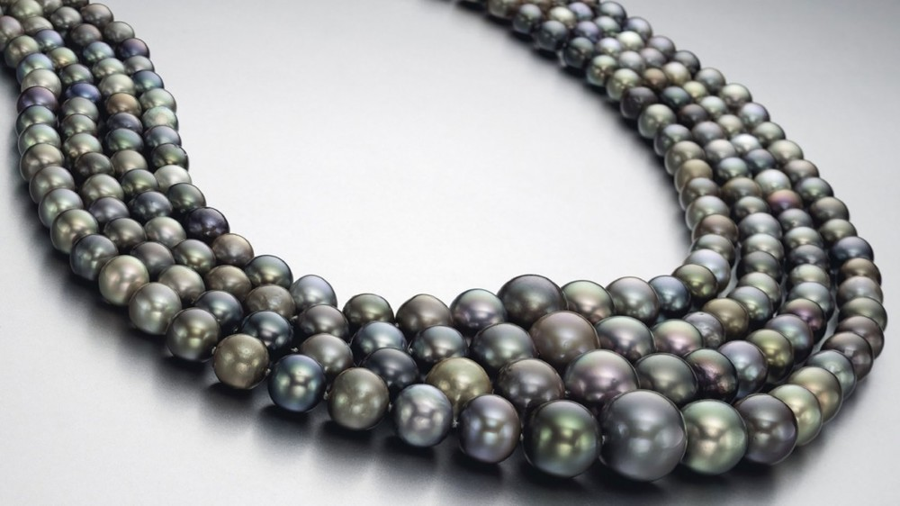 A natural gray pearl necklace sold for a record $5.1 Million at a Christie's auction