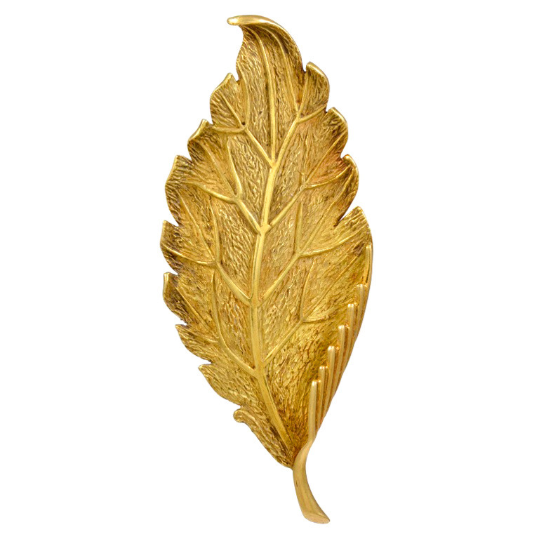 Tiffany & Co. Gold Leaf Brooch OFFERED BY CHAS SCHWARTZ & SON