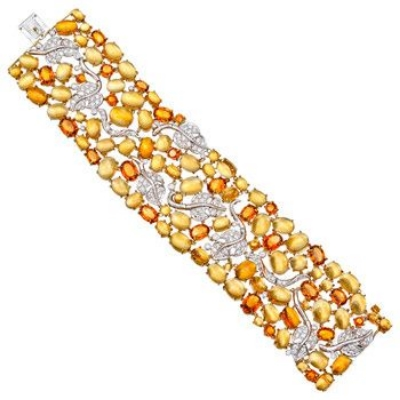 Seaman Schepps Citrine & Diamond Vine Leaf Bracelet Sold by Betterridge
