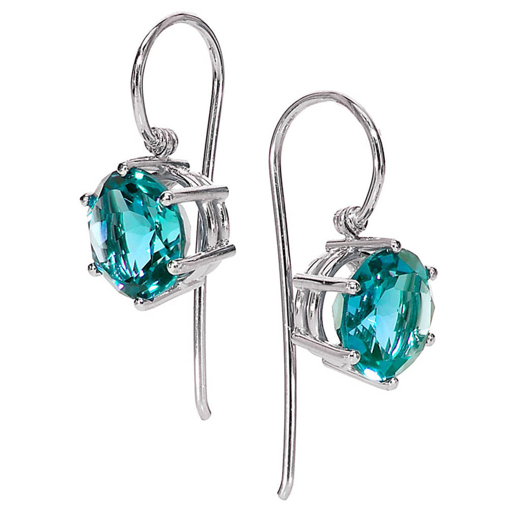 Matched Blue Zircon Gold Princess Dangle Earrings, OFFERED BY  SZOR COLLECTIONS