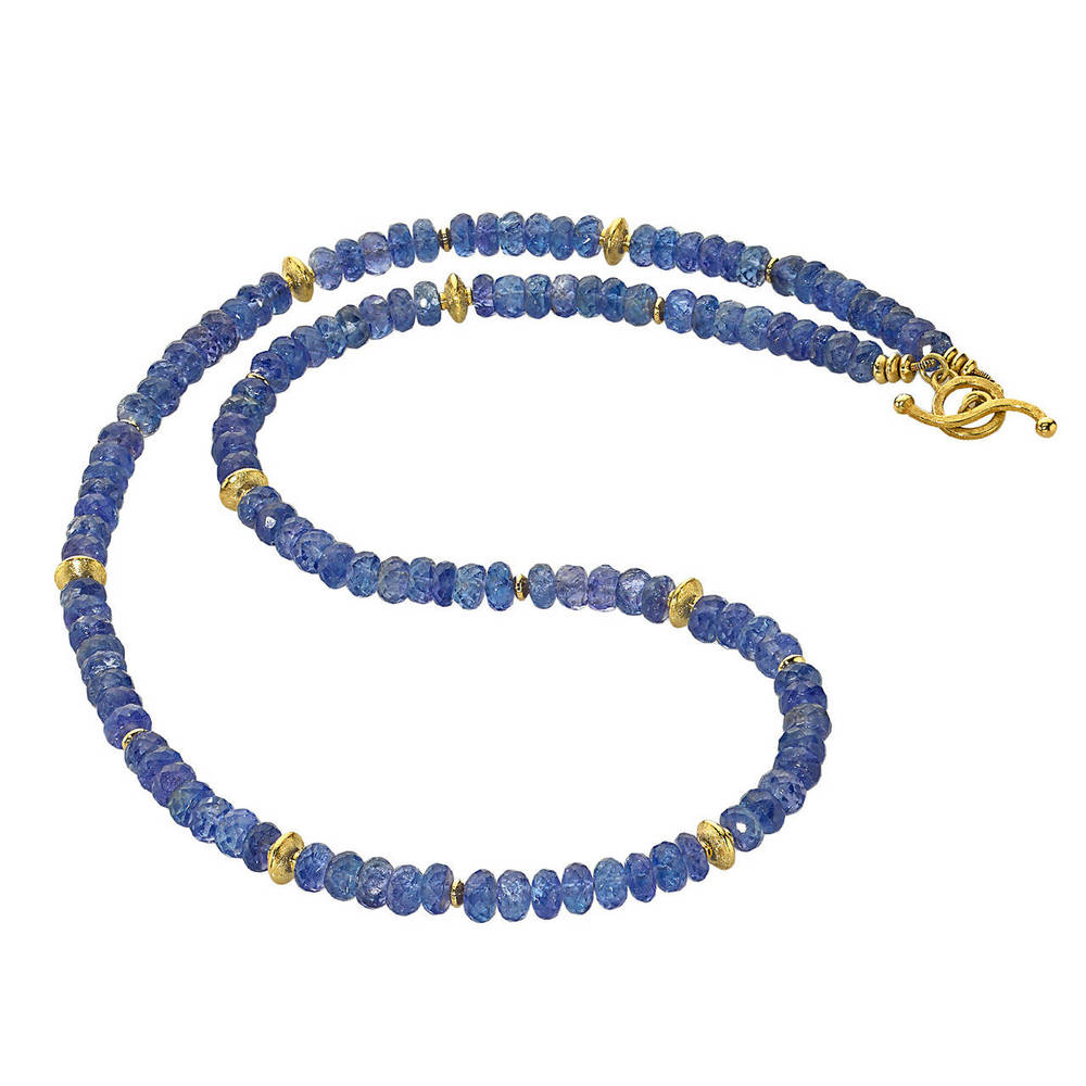 Barbara Heinrich Tanzanite Gold Necklace, OFFERED BY SZOR COLLECTIONS