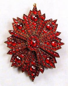 This Brooch Dates From the Third Quarter of the 19th Century. (Photo Courtesy the National Czech & Slovak Museum & Library)