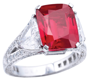 The Graff Ruby sold  by Sothebys in 2014 for $8,600,410.00