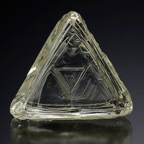 Macle or twinned diamond crystal
