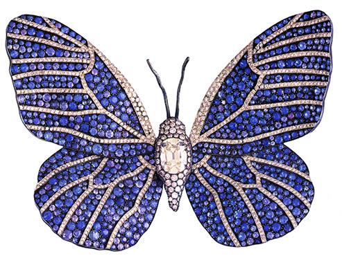 Montana Sapphire and Diamond brooch by JAR