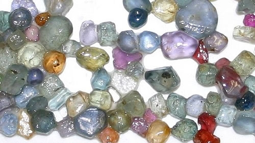 Montana Sapphires. Photo courtesy of Georgetown Lake