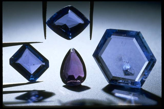 Yogo Sapphires that are part of the Smithsonian Collection